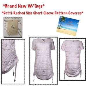 *BNWTS* Dotti- Ruched Side, Short Sleeve Coverup